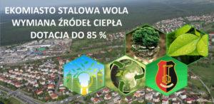"""Plakat promujący projekt """"Ekomiasto Stalowa Wola - wymiana źródeł ciepła"""""""