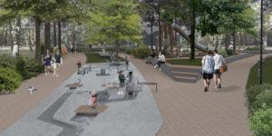 Wizualizacja Parku Jordanowskiego w Stalowej Woli