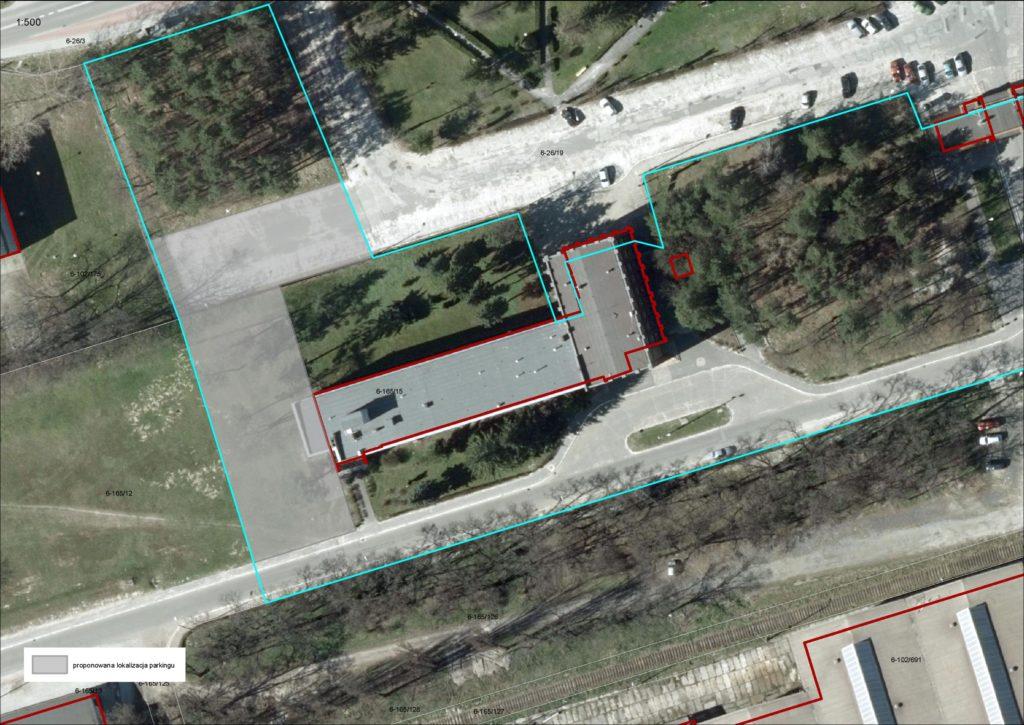 Parking przy ul. Kwiatkowskiego 1 - plan/mapa
