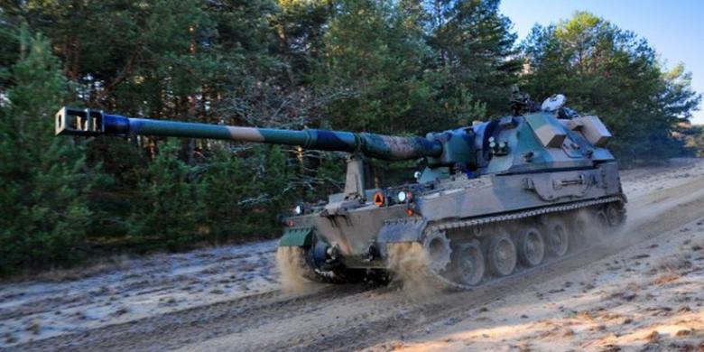 czołg w lesie