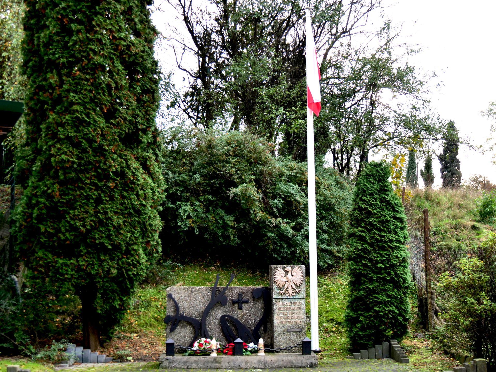 pomnik, flaga