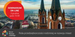 seminarium Forum Rozwoju Lokalnego - plakat