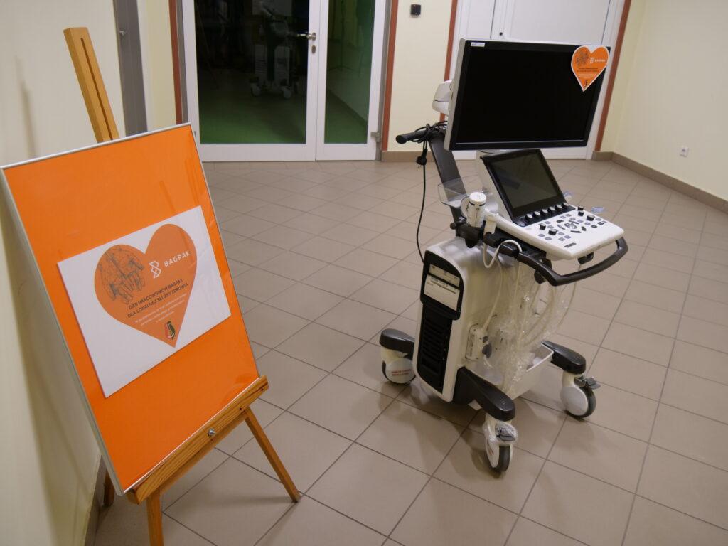 sztaluga, sprzęt medyczny- echokardiograf