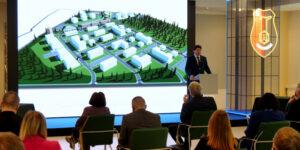 wiele osób, wizualizacja nowego osiedla