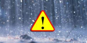 deszcz, ostrzeżenie hydrologiczne, woda