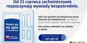 baner z napisem: Od 23 czerwca rachmistrzowie rozpoczynają wywiady bezpośrednie