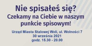 Plakat zachęcający do spisu powszechnego ludności